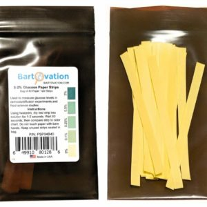 Scientific Glucose Test Paper Strips for Food Science or Osmosis/Diffusion Experiments (Bag of 40 Paper Strips)