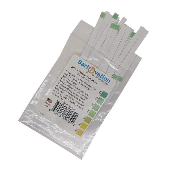 pH 3-6 Short Range Test Strips [Bag of 50 Strips]