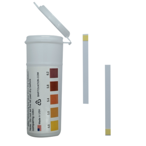pH Test Strips for Beer Making, Homebrew, Acidity, 4.6 to 6.2 pH [Vial of 100 Strips]
