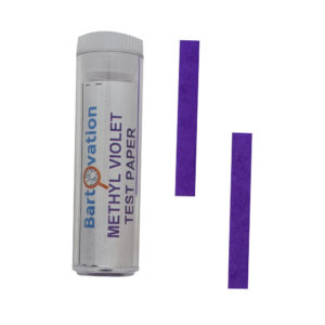 Methyl Violet Test Paper | No Color Chart Qualitative Test [Vial of 100 Strips]