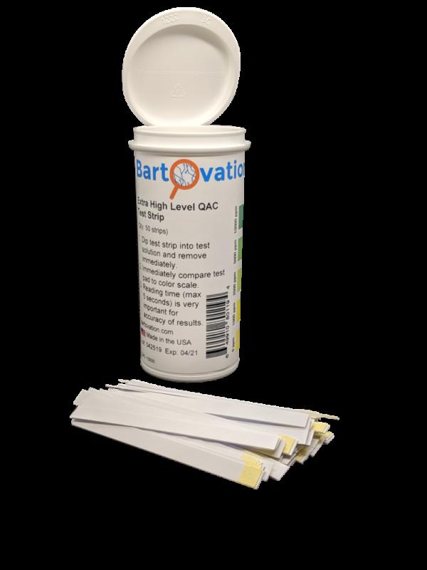 Very High Level Quat Strips 0-10000ppm (50 Strip Vial)
