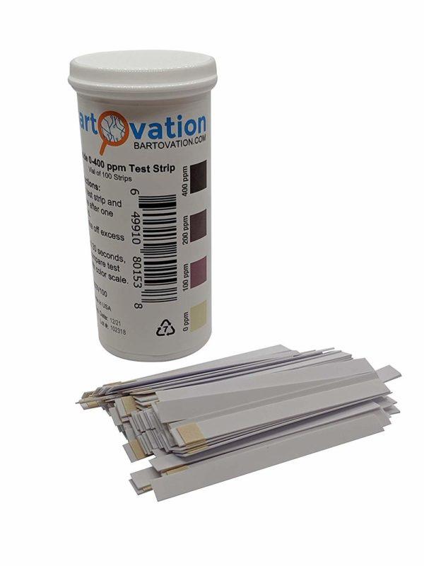 Peroxide Test Strips, 0-400 ppm [Vial of 100 Strips]
