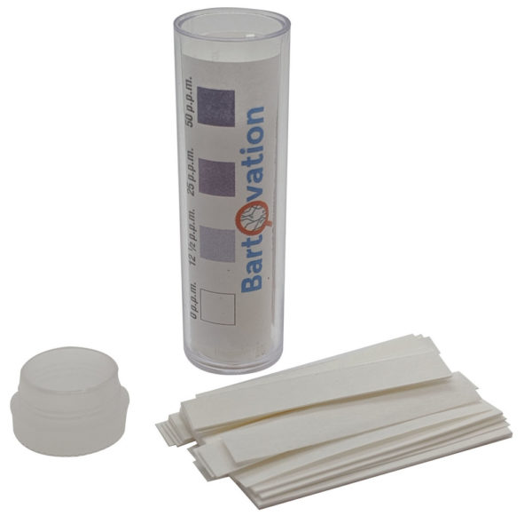 Restaurant Sanitizer Iodine Test Paper, 0-50 ppm [Vial of 100 Paper Strips]