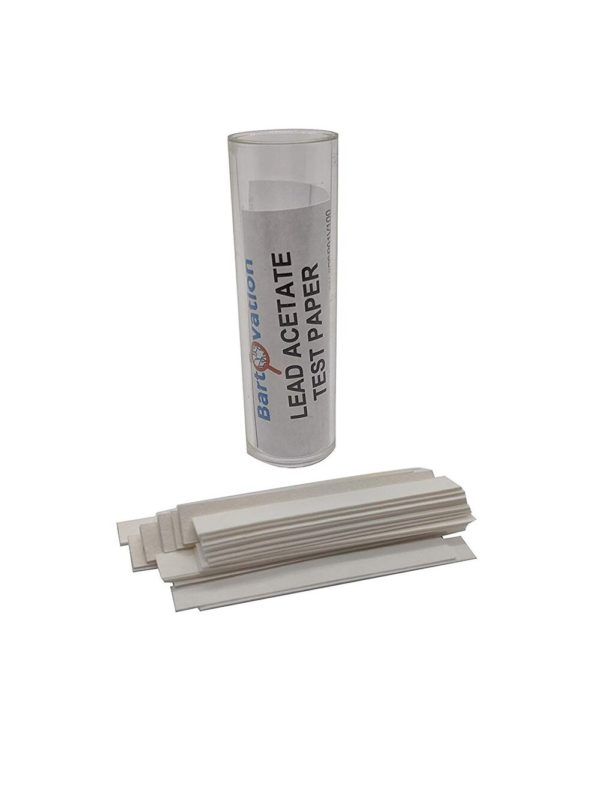 Lead Acetate Test Paper | for Detection of Hydrogen Sulfide [Vial of 100 Strips]